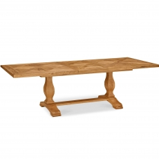 Cookes Collection Nantes Oak Large Extending Dining Table
