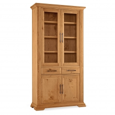 Cookes Collection Nantes Oak Display Cabinet