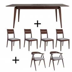 Ercol Lugo Dining Table and 6 Chairs