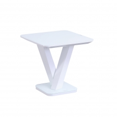 Cookes Collection Ralph Lamp Table White