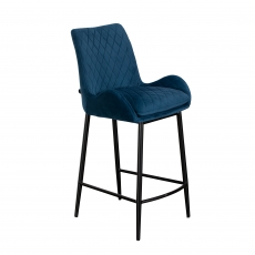 The Cookes Collection Blue Sienna Bar Chair