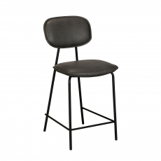 Cookes Collection Grey Claire Bar Chair