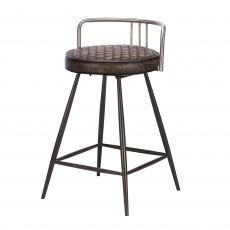 Cookes Collection Grey Maddison Bar Stool