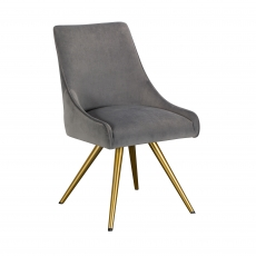 Cookes Collection Grey Isabella Dining Chair