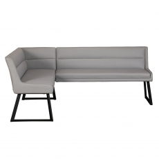 Cookes Collection Light Grey Lacie Corner Bench Right
