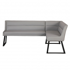 Cookes Collection Light Grey Lacie Corner Bench Left