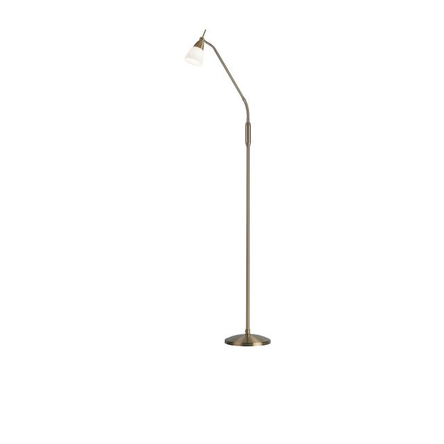 Antique Brass Touch Floor Lamp