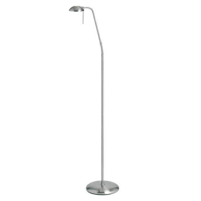 Satin Chrome G9 Touch Floor Lamp