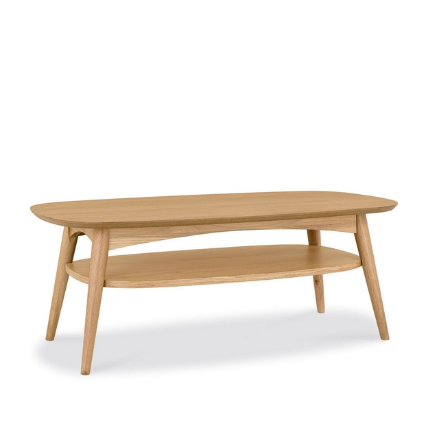 Cookes Collection Norway Oak Coffee Table With Shelf