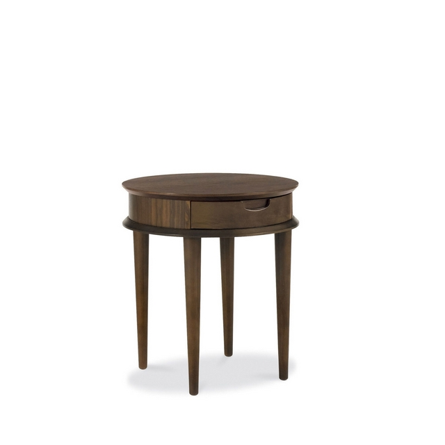 Cookes Collection Norway Walnut Lamp Table With Drawer