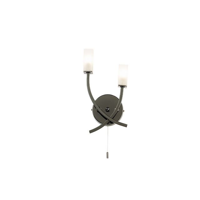 Black Chrome 2 Light Wall Bracket