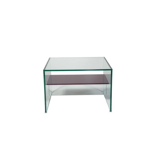 Glass Lamp Table - Lower Shelf In Colour