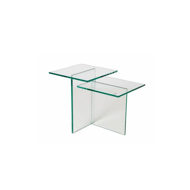Lamp Table In Clear Glass