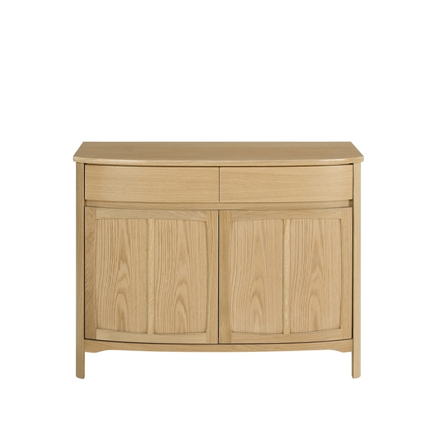 SHADES OAK Nathan Shades Oak Shaped 2 Door Sideboard