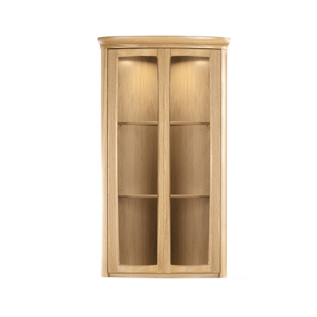 SHADES OAK Nathan Shades Oak Shaped Corner Display Unit