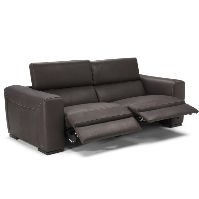 Natuzzi Editions Maestro Electric Recliner Large Sofa In Cat 10