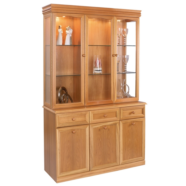 Trafalgar Sutcliffe Trafalgar Teak 3 Door Display Unit