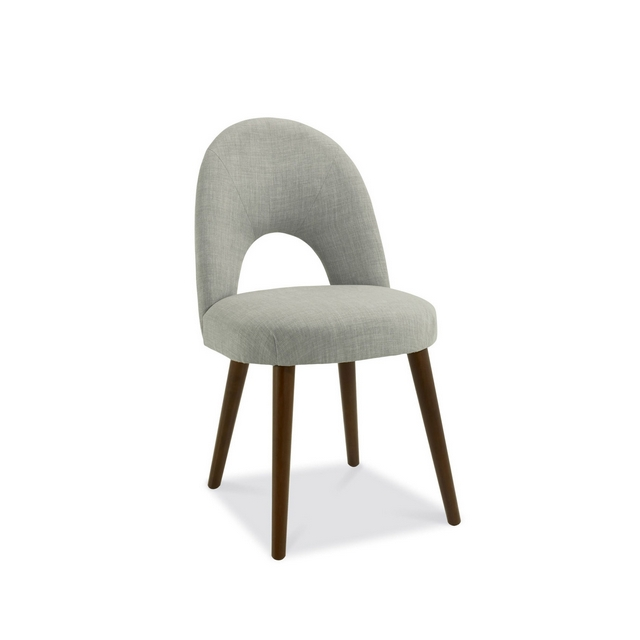 Cookes Collection Norway Walnut Upholstered Dining Chair In Linen Fabric