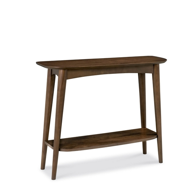 Cookes Collection Norway Walnut Console Table With Shelf