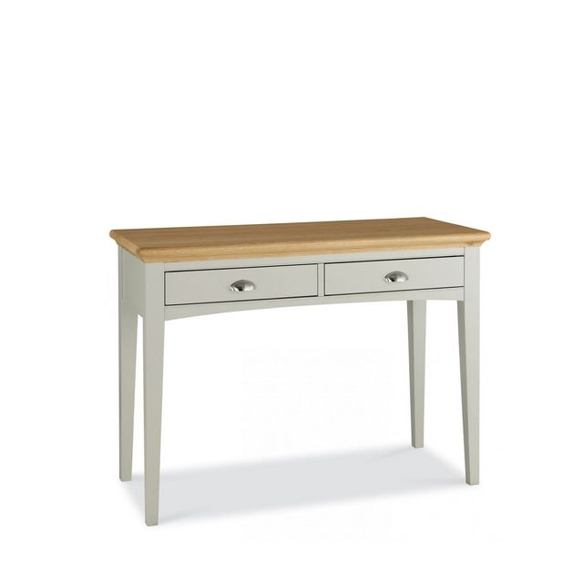 Cookes Collection Camden Soft Grey And Pale Oak Dressing Table