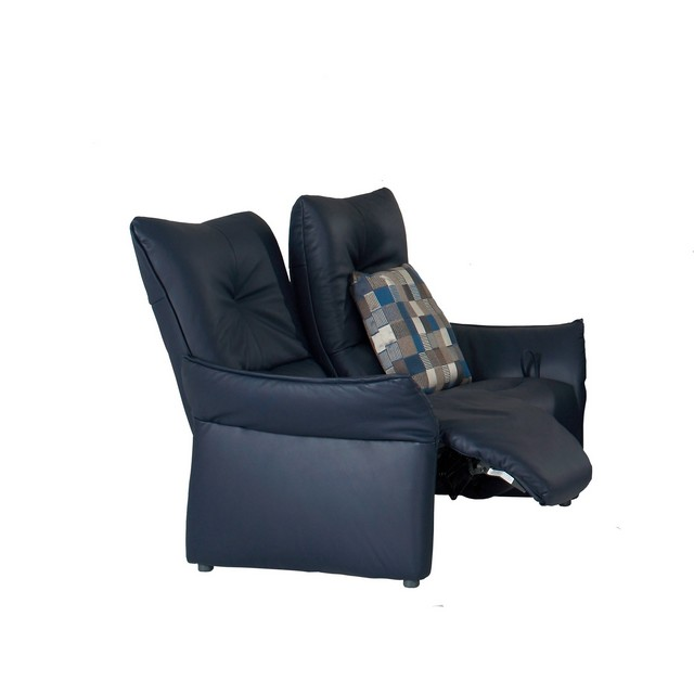Himolla Brent 2 Seater Manual Recliner Sofa In Leather 18