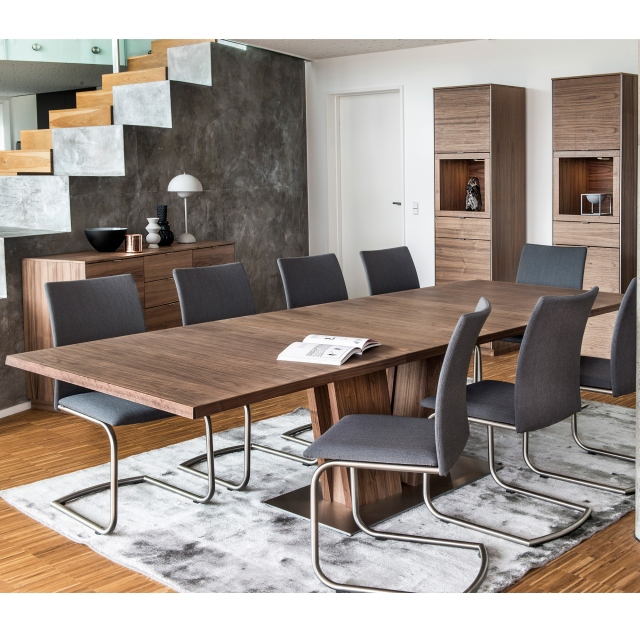 Skovby Walnut Dining Table And 6 Chairs