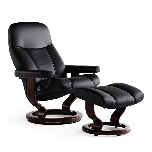 Stressless Consul Large Chair and Stool Classic Base 1
