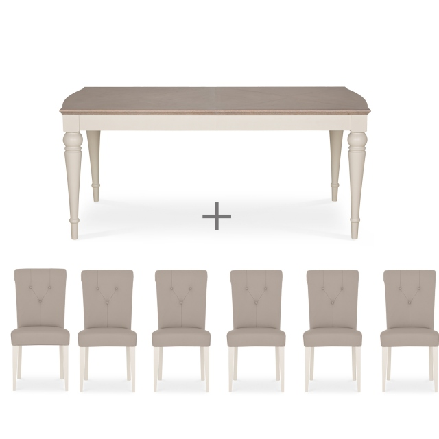 Peachy Cookes Collection Geneva Dining Table And 6 Chairs Pabps2019 Chair Design Images Pabps2019Com