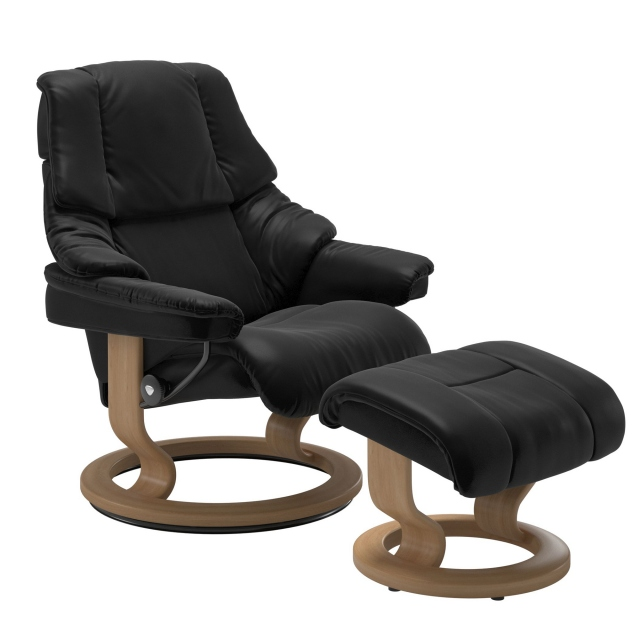 Stressless Reno Large Chair & Stool Classic Base 1