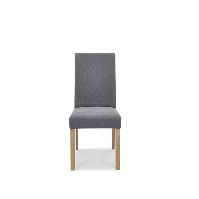 Cookes Collection Trinity Straight Back Dining Chair In Slate Blue Fabric