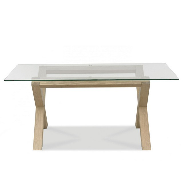Cookes Collection Trinity Rectangular Glass Top Dining Table