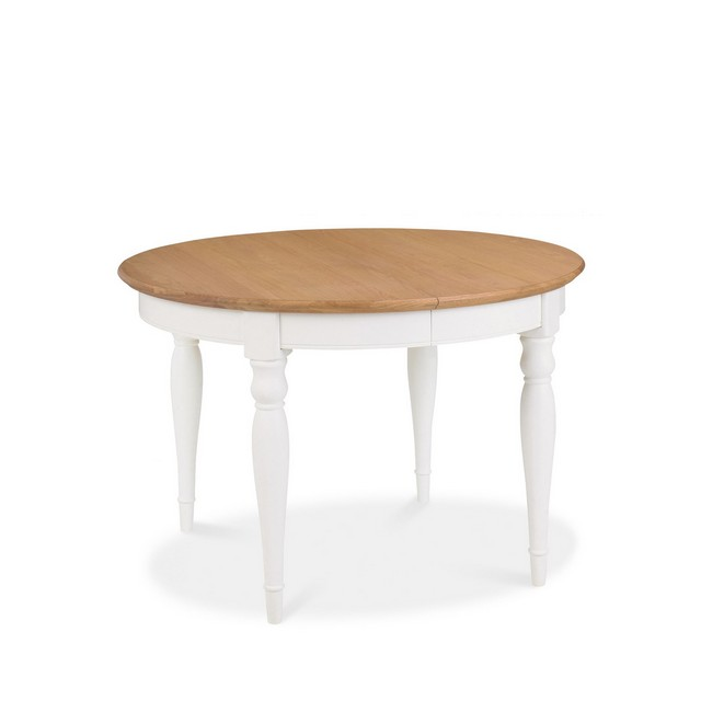 Cookes Collection Camden Two Tone Round 4-6 Extending Dining Table