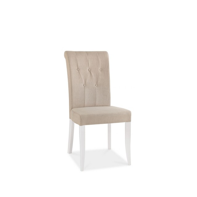 Cookes Collection Camden Two Tone Upholstered Dining Chair In Fabric