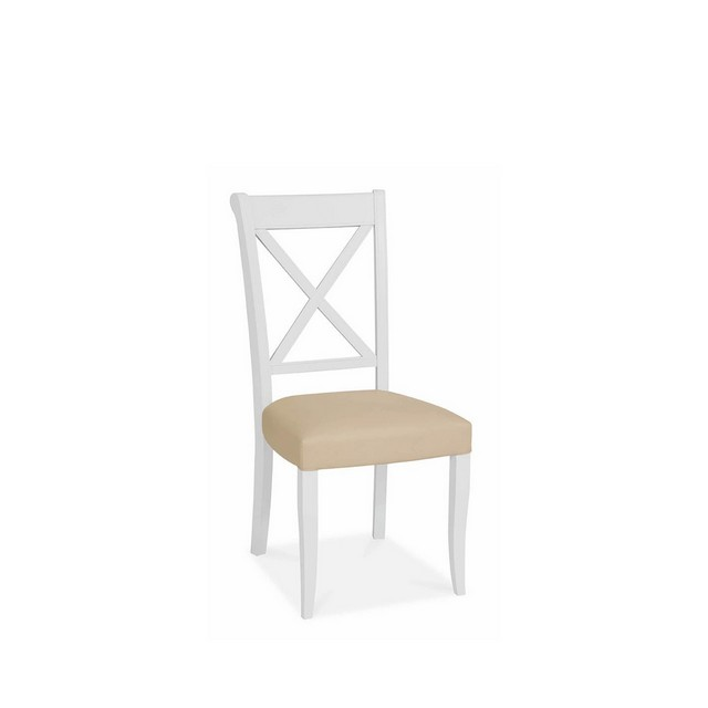 Cookes Collection Camden Two Tone X Back Dining Chair In Leather