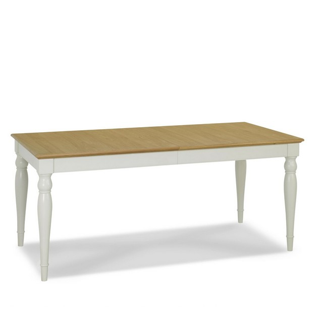 CAMDEN SOFT GREY & PALE OAK DINING Cookes Collection Camden Soft Grey And Pale Oak Rectangular 6-8 Extending Dining Table