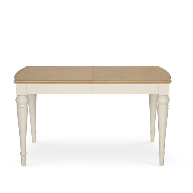 GENEVA PALE OAK & ANTIQUE WHITE DINING Cookes Collection Geneva Oak And Antique White 6-8 Extending Dining Table