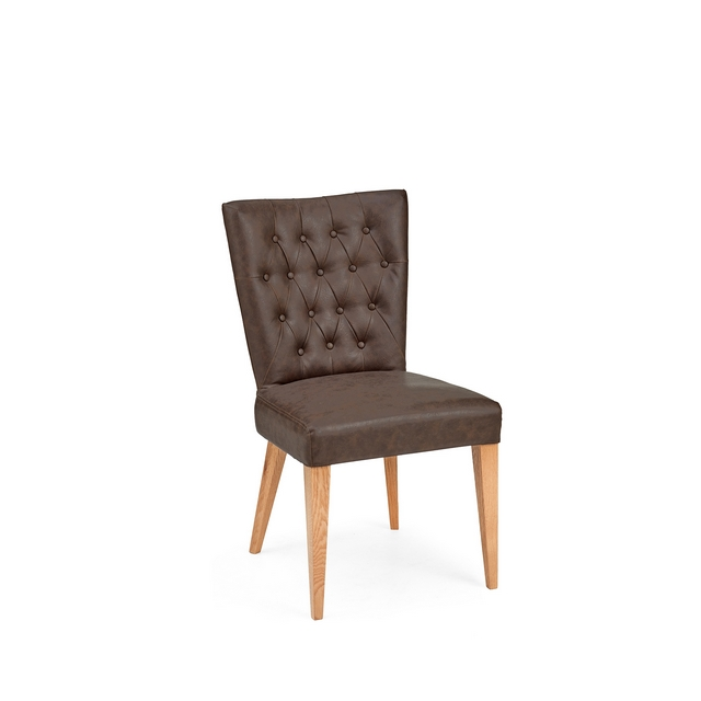 Montreal Cookes Collection Montreal Faux Leather Dining Chair