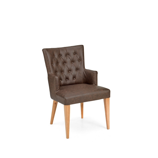 Cookes Collection Montreal Armchair Dining Chair In Faux Leather