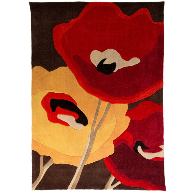INFINITE MOD ART Infinite Modern Art Poppy Rug