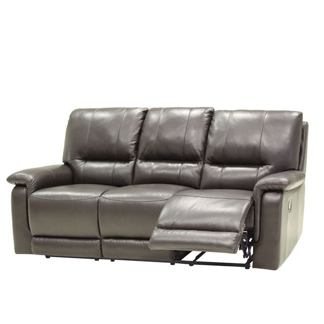 Cookes Collection Melbourne 3 Seater Manual Recliner Sofa In Leather 10