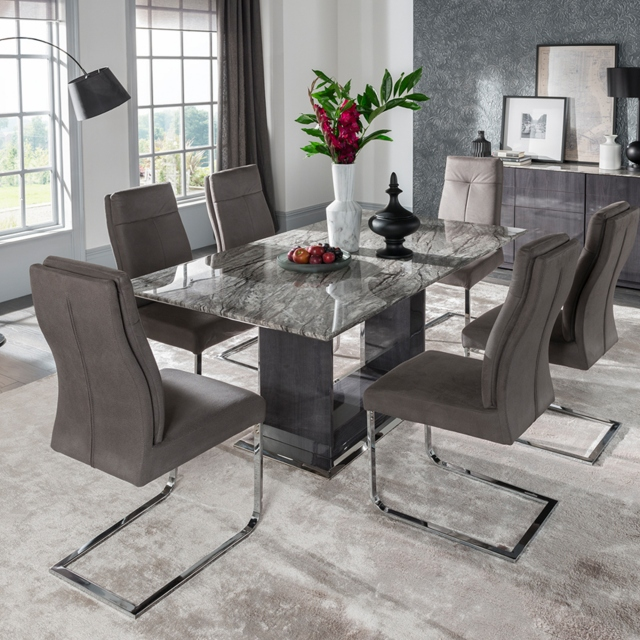 Grey Dining Table And Chairs Set