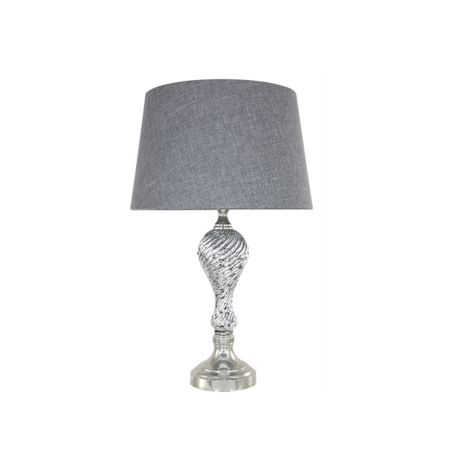 Silver Mercury Ripple Table Lamp