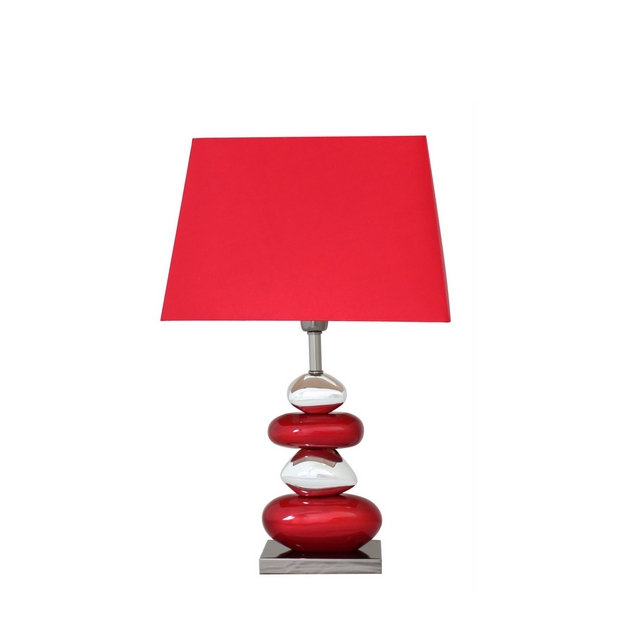 Decorative Red Pebble Table Lamp