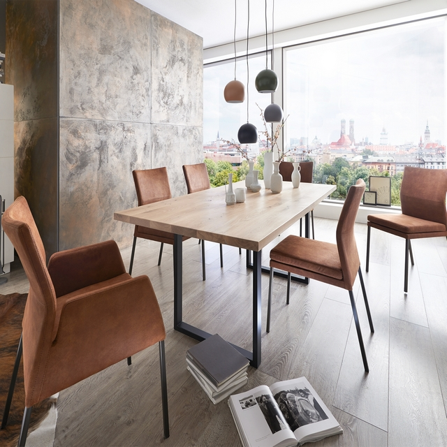 Fargo Dining Table 220cm, 2 Armchairs and 4 Side Chairs