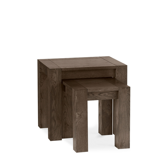 TRINITY DARK OAK DINING Cookes Collection Trinity Dark Oak Nest of Tables