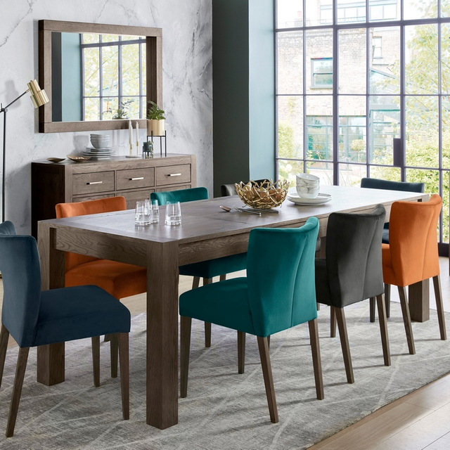 Trinity Dark Oak Dining Cookes Collection Trinity Dark Oak Medium Extending Dining Table Dining Tables