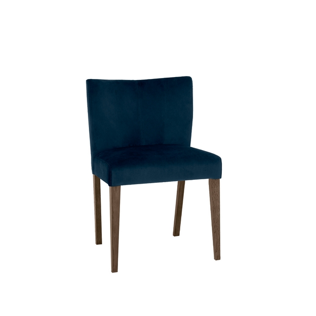 TRINITY DARK OAK DINING Cookes Collection Trinity Dark Blue Velvet Dining Chair