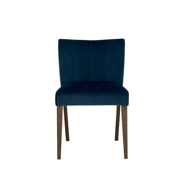 Remarkable Cookes Collection Trinity Dark Blue Velvet Dining Chair Machost Co Dining Chair Design Ideas Machostcouk