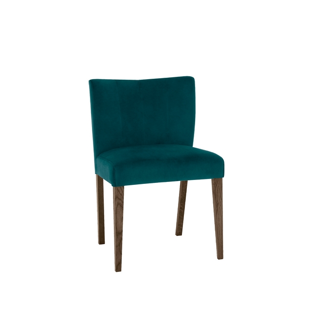 TRINITY DARK OAK DINING Cookes Collection Trinity Sea Green Velvet Dining Chair