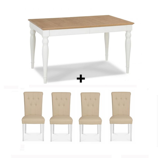 Marvelous Cookes Collection Camden Two Tone Dining Table And 4 Chairs Squirreltailoven Fun Painted Chair Ideas Images Squirreltailovenorg